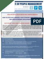 IPM Economic and Socio-Economic Development