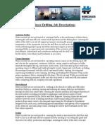 Offshore Drilling Descriptions