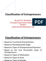 Classification of Enterprenuers