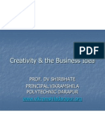Creativity & the Business Idea