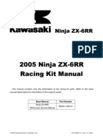05 ZX-6RR Racing Kit Manual