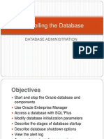 Controlling the Database