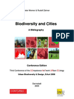 Biodiversity and Cities Bibliography
