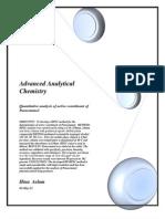 Quantitative Analysis of Active Constituent of Paracetamol