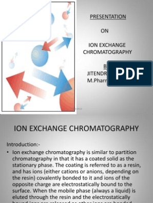 Ion Exchange Chromatography Final Ppt | Ion Exchange