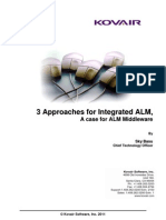 3 Approaches to Integrated ALM, A case for ALM Platform
