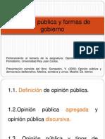 Tema 1. Opinión pública y formas de gobierno.