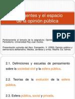 Tema 2. Los agentes y el espacio de la esfera pública