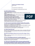Db Testing Questions