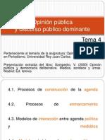 Tema 4. Opinión pública y discurso público dominante