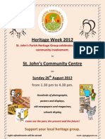 Heritage Week 2012 Poster