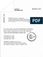 1975-Flat-plate Solar-collector Performance Evaluation