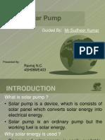 Solar Pump Ppt