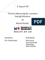 A Project Report on Maruti Final