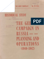 37067974 United States Army Da Pam 20 261a Historical Study the German Campaign in Russia Planning and Operations 1940 1942 1955