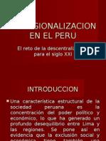 La Regionalizacion en El Peru