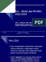 Prof Soek 1 Gizi Dan MDG & RPJN April 2010 Soekirman