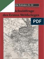 Historische Tatsachen - Nr. 20 - Udo Walendy - Die Schuldfrage Des Ersten Weltkrieges (1984, 40 S., Scan-Text)