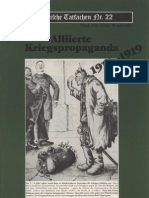 Historische Tatsachen - Nr. 22 - Udo Walendy - Alliierte Kriegspropaganda 1914-1919 (1984, 40 S., Scan-Text)