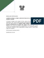 EDITAL DE CONVOCAÇÃO AUDIENCIA PUBLICA REEESTRUTURÇAÃO AV ENGENHEIRO ROBERTO FREIRE