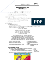 Music 2 Lesson Plan (Mathematics)