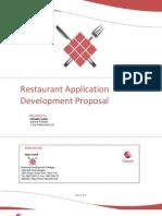 Proposals Restaurant Application Proposal