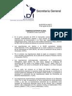 Comercio Exterior Global Ecuador Enero-Junio 2012