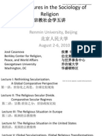 Casanova Beijing Lectures on the Sociology of Religion