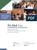 Pri-Med East 2012 Full Conference Brochure