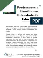 Professores e Família em Liberdade de Educação - por Fernando Adão da Fonseca
