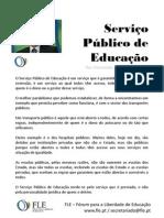 Serviço Público de Educação - por Fernando Adão da Fonseca