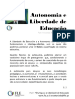 Autonomia e Liberdade de Educação - por Fernando Adão da Fonseca