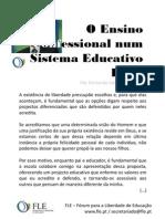 Ensino Confessional Num Sistema Educativo Livre - Por Fernando Adão da Fonseca
