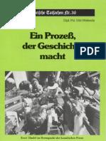 Historische Tatsachen - Nr. 36 - Udo Walendy - Ein Prozess Der Geschichte Macht (1988, 40 S., Scan)