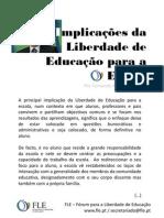 Implicações da Liberdade de Educação para a Escola - por Fernando Adão da Fonseca