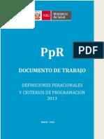 Definiciones Operacionesle Pe 2013