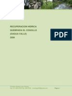 Proyecto Recuperacion Hidrica Quebrada El Cogollo