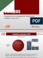 Estadisticas IMSS Junio 2012