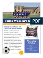 Tulsa Women's Soccer Newsletter