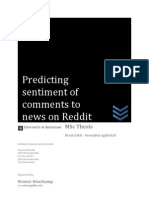 Predicting Sentiment of Comments to News on Reddit