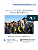 Matthew Chingos and Paul Peterson 2012_the Effects of School Vouchers on College Enrollment