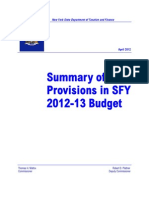 Summary of 2012 13 Tax Provisions
