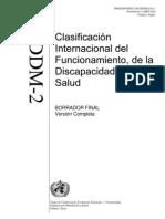 Clasificación Internacional del Funcionamiento, Discapacidad y de la Salud. CIDDM-2
