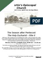 St. Martin's Episcopal Church Worship Bulletin - Aug. 26 - 10:15 a.m.