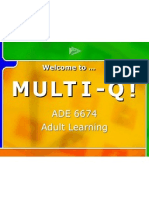 Adult Learning Interactive Game