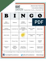 Convention Bingo at the DNC