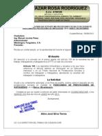 SOLICITUD AL PATRONO PARA QUE DEPOSITE MIS PRESTACIONES SOCIALES EN CALIDAD DE FIDEICOMISO DE PRESTACIONES DE ANTIGUEDAD  EN EL BANCO  BICENTENARIO