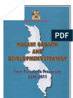 Malawi Growth & Development Strategy, From Poverty to Prosperity (2006 - 2011))