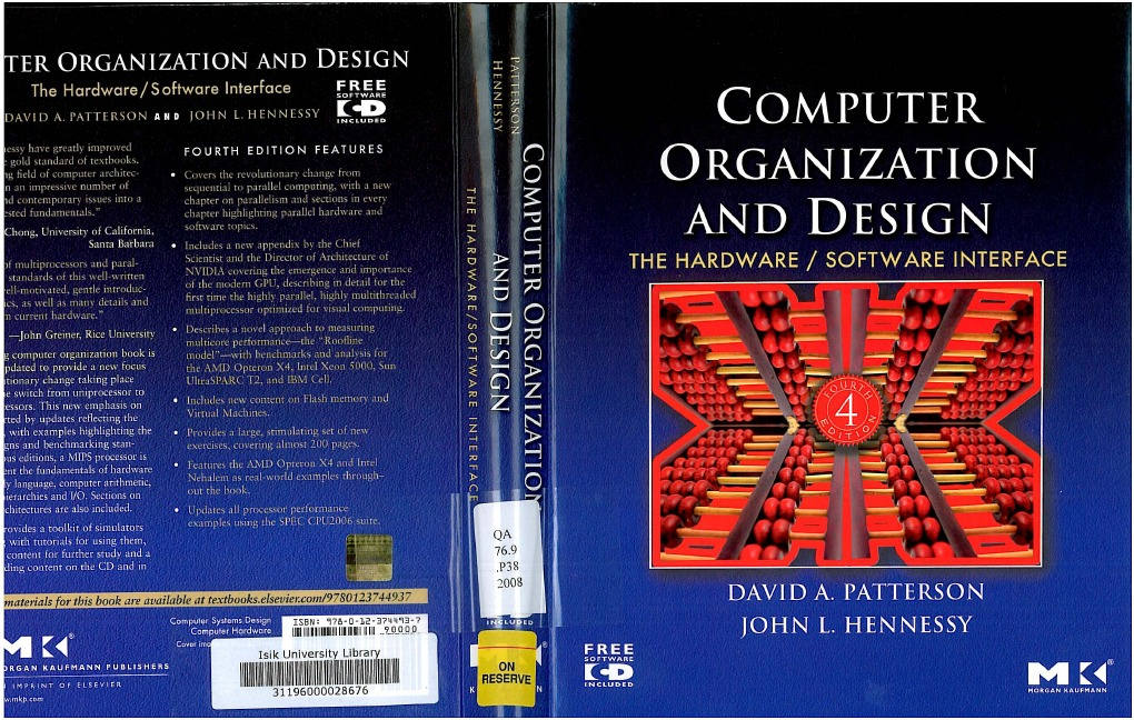 Computer Organization And Design 4th Ed D A Patterson And J L Hennessy