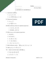 Progresiones Aritméticas y Geométricas I